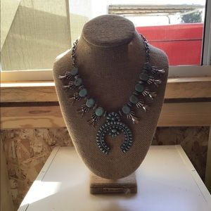 Cost Plus Squash Blossom Turquoise Necklace